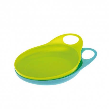 SET OF 2 EASY HOLD PLATES – blue/green