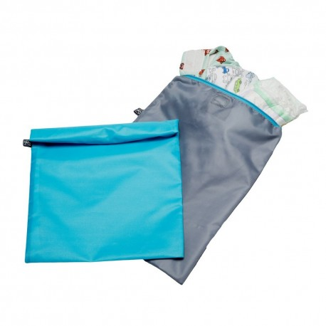 2x WET-TO-GO WET BAGS - teal/ grey
