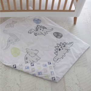 JURASSIC Cot Quilt Cover with removable Duvet Inner