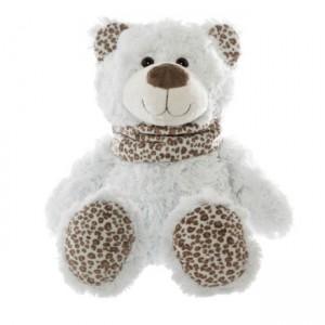 MILLY Teddy Bear with leopard print scarf - medium 39cm