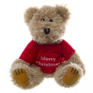 LITTLE TED - with removable Merry Christmas jumper 20cm