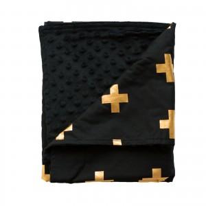 PRAM BLANKET – Gold Crosses
