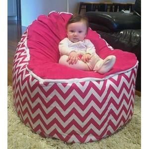 Chevron Hot Pink Bean Bag Chair