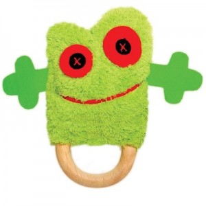 OB Designs TONY TREEFROG DINGARING  (plush teething rattle)