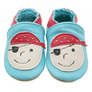 SOFT SOLED LEATHER BABY SHOES - Pirate  0-6 months
