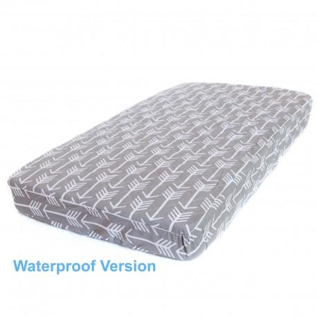 WATERPROOF COT MATTRESS PROTECTOR - Grey Arrow