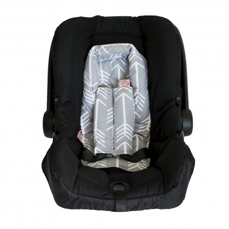 BAMBELLA DESIGNS INFANT HEAD SUPPORT - grey arrow
