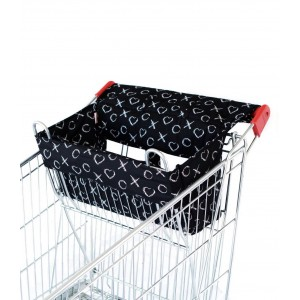 SHOPPING TROLLEY LINER (Fits DOUBLE or SINGLE TROLLEYS) - Black XO
