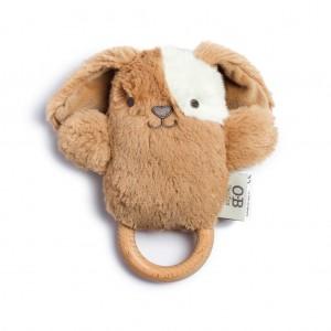 OB Designs DUKE DOG DINGARING  (plush teething rattle)