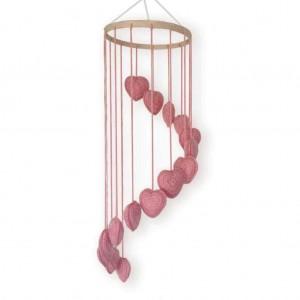 OB Designs Pink Heart Mobile