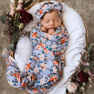 JERSEY WRAP & MATCHING TOP KNOT – Vintage Blossom