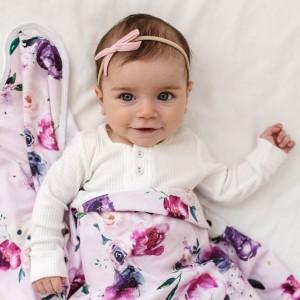 VELVET BABY HEADBAND BOW - rose pink