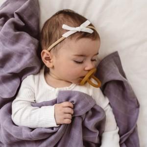 VELVET BABY HEADBAND BOW - white