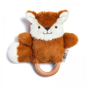 OB Designs FRANKIE FOX DINGARING  (plush teething rattle)