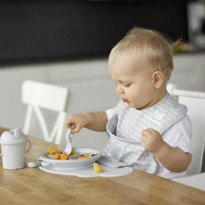 HEROBILITY ECO BABY PLATE DIVIDER - mist grey