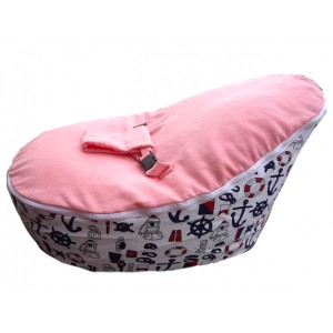 PRE PURCHASE TO SECURE - Nautical Pink Bean Bag Chair with Harness