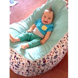 PRE PURCHASE TO SECURE - Nautical Aqua Bean Bag Chair with Harness