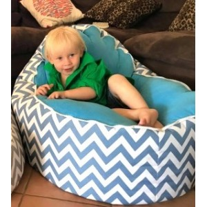 PRE PURCHASE TO SECURE - Chevron Light Blue Bean Bag Chair