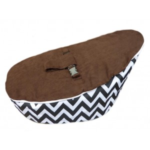 PRE PURCHASE TO SECURE - Chevron Brown On Black Bean Bag Chair with Harness