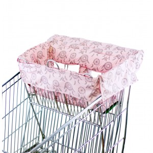SHOPPING TROLLEY LINER (Fits DOUBLE or SINGLE TROLLEYS) - Pink Dreamcatchers