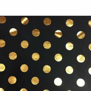 SHOPPING TROLLEY LINER (Fits DOUBLE or SINGLE TROLLEYS) - Black / Gold Spots