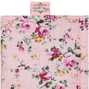 SHOPPING TROLLEY LINER (Fits DOUBLE or SINGLE TROLLEYS) - Pink Flower