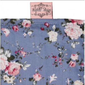 SHOPPING TROLLEY LINER (Fits DOUBLE or SINGLE TROLLEYS) - Blue Flower