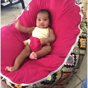 Aztec Pink Bean Bag Chair with Harness