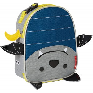 SKIP HOP Zoo Lunchies Insulated Lunch Bag - bat