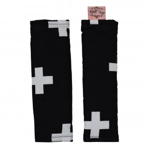 PRAM HARNESS COVERS – Black Crosses