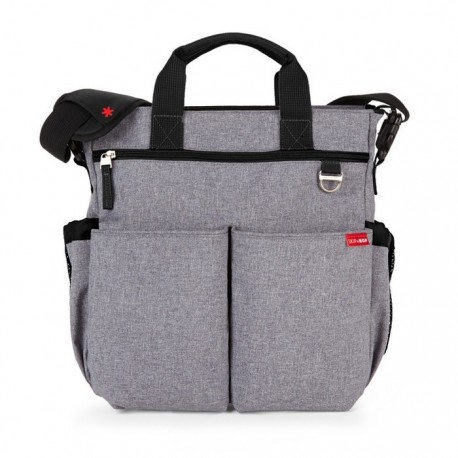 DUO SIGNATURE NAPPY BAG – heather grey
