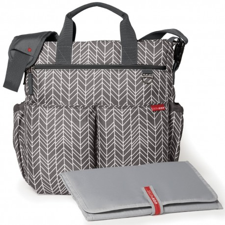 DUO SIGNATURE NAPPY BAG – grey feather