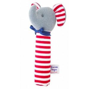 ALIMROSE ELEPHANT SQUEAKER  -  red stripe