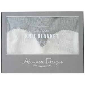 ALIMROSE KNIT COT BLANKET – white heart