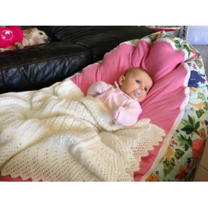 Jungle Animals Pink Bean Bag Chair with Harness